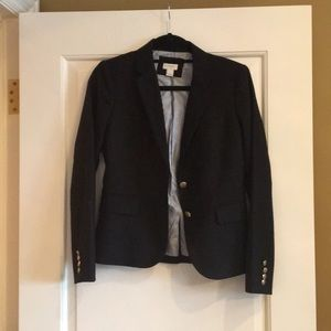 Worn 1x! J. Crew black Wool School blazer